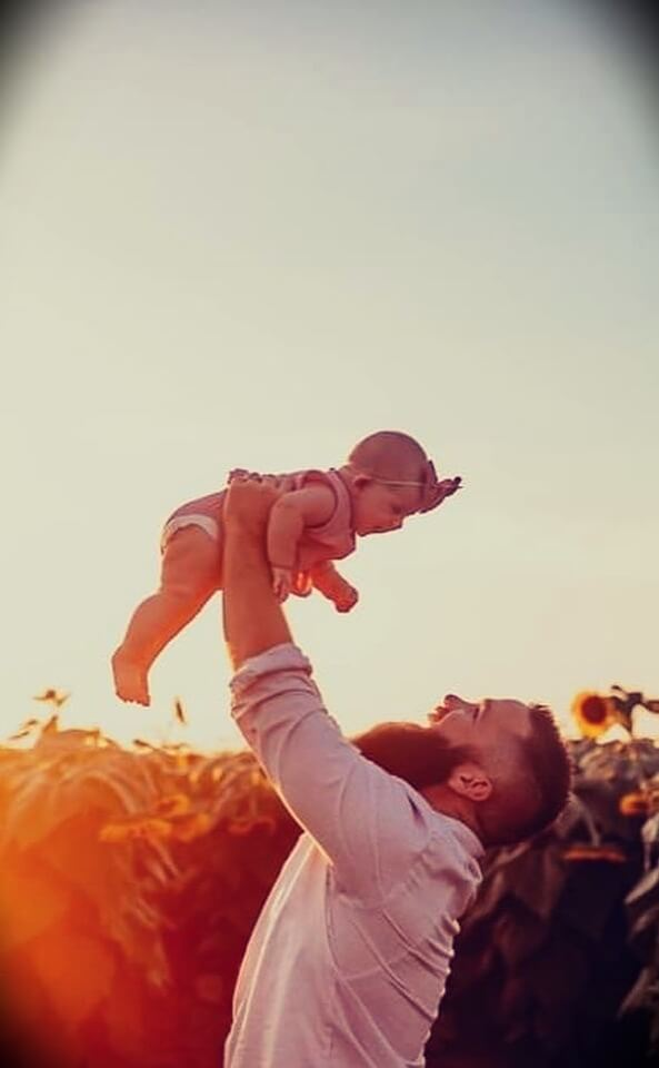 JJ Buckner with his daughter