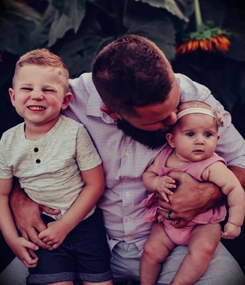 JJ Buckner with his children