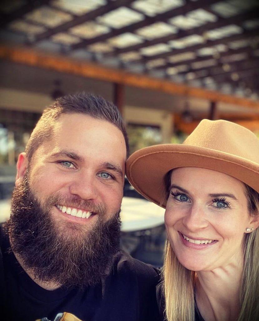JJ Buckner with his wife Lindsey Buckner