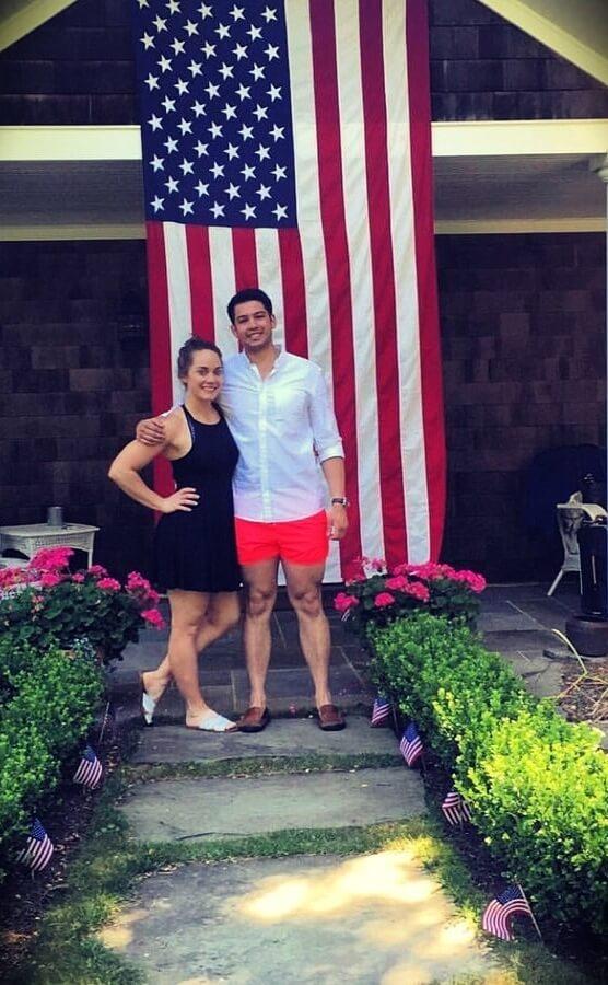 Megsquats with her husband Ryan Espiritu