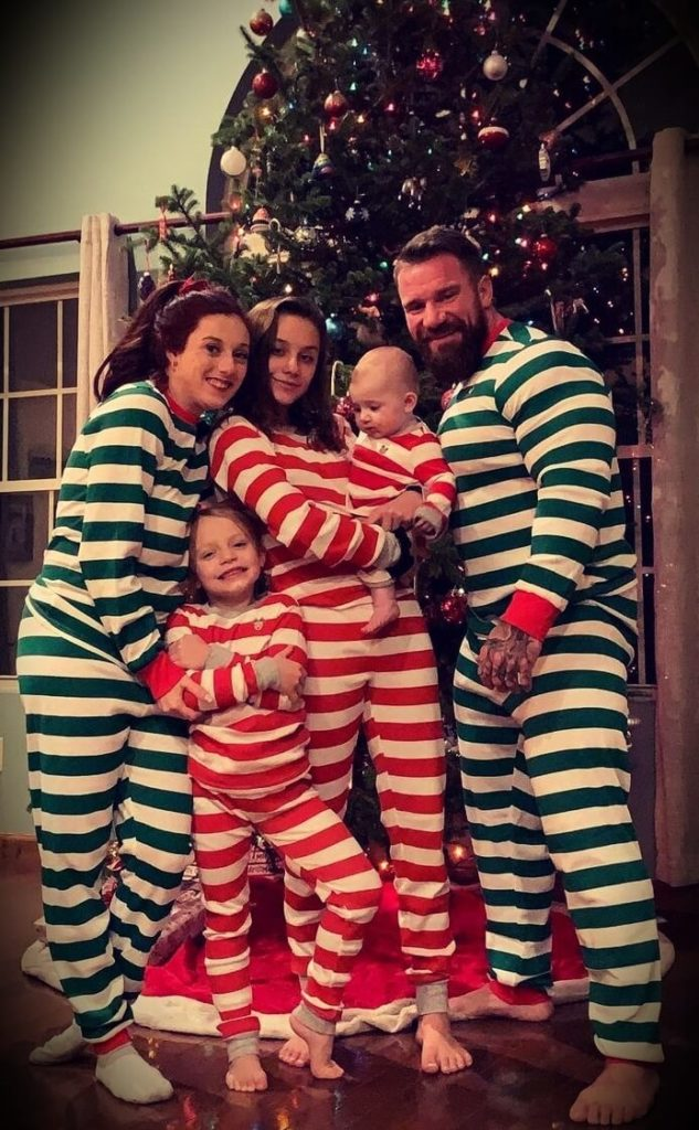 Seth Feroce with his fiancée Hannah Nicole and his three children