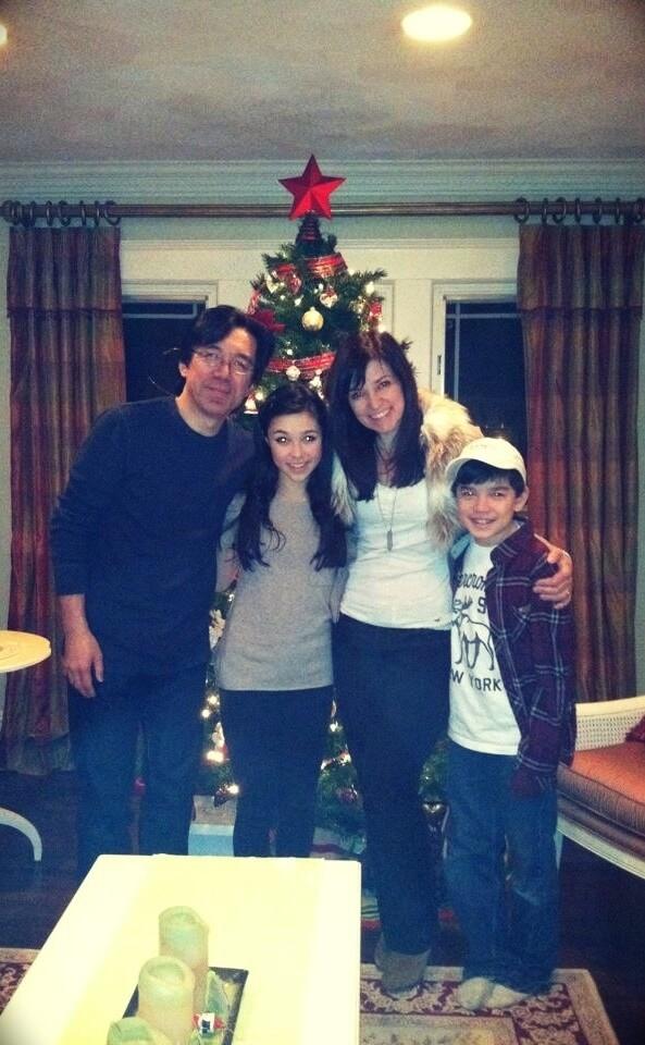 Tomo Fujita with his wife Beth Fujita and their children Sammi and Nathaniel