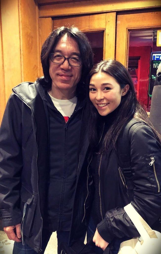 Tomo Fujita with his daughter Sammi Fujita