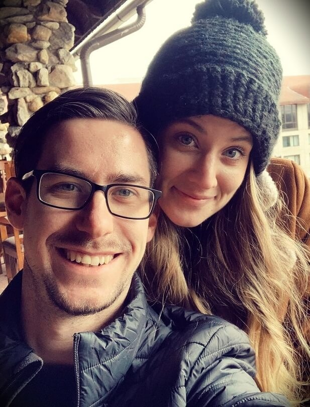 Casey Cooper aka COOP3RDRUMM3R with his wife Hannah Cooper