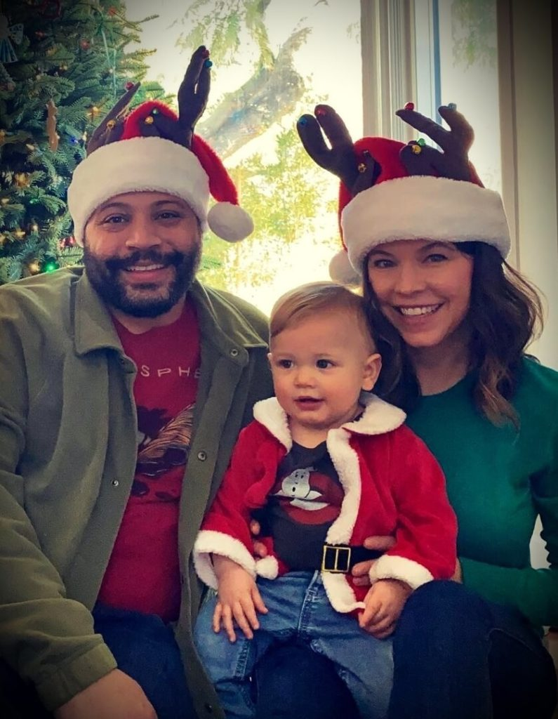 Colton Dunn with his wife Jessica Stier