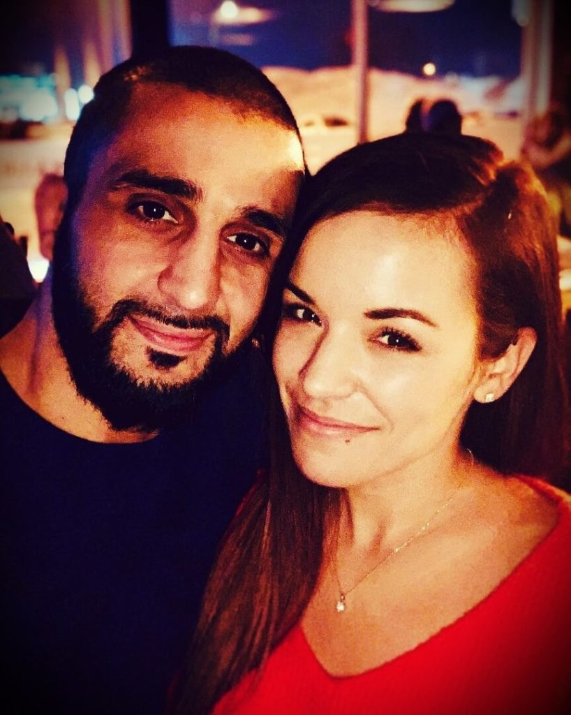 Firas Zahabi with his wife Mélissa Gendron