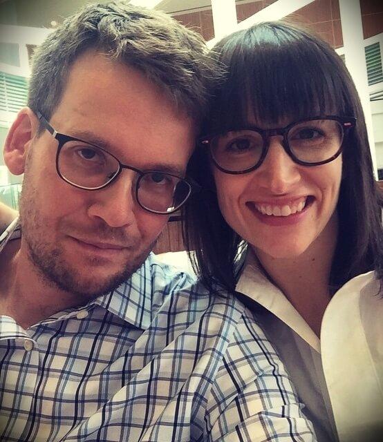 John Green with his wife Sarah Urist Green