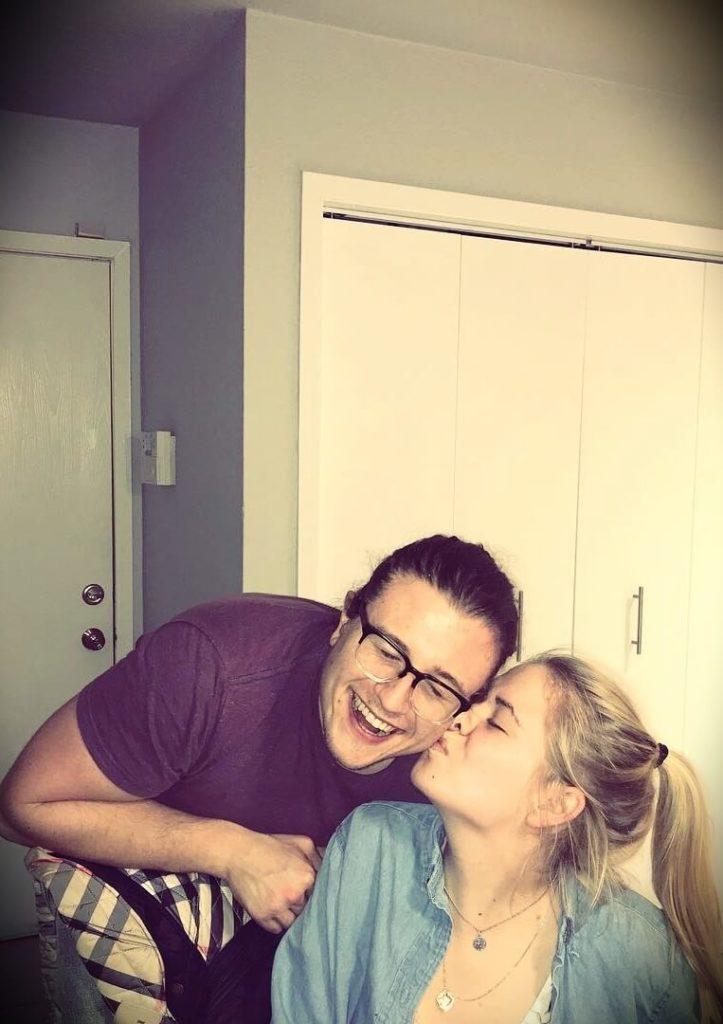 Joshua Weissman with his girlfriend Kate Rosendahl