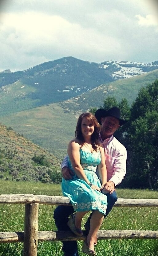Kent Rollins with his wife Shannon Keller Rollins