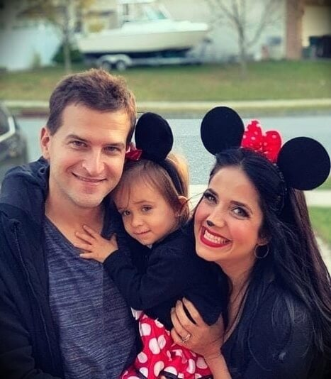 Laura Vitale (Laura in the Kitchen) with her husband Joe Vitale and their daughter Mia