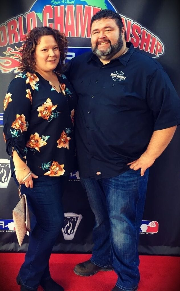 Malcom Reed (HowToBBQRight) with his wife Rachelle Reed