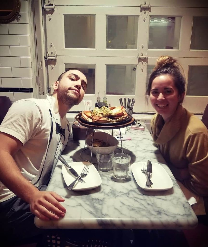 Mizkif with his girlfriend Maya Higa