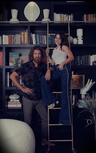 Rhett McLaughlin with his wife Jessie McLaughlin