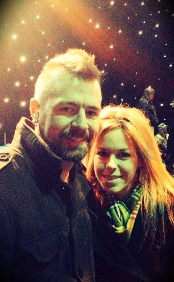 drummer Stephen Taylor with his wife Kelli