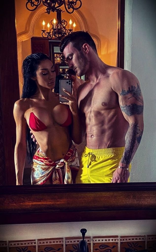 Vince Sant aka V Shred with his girlfriend Ashley Rossi