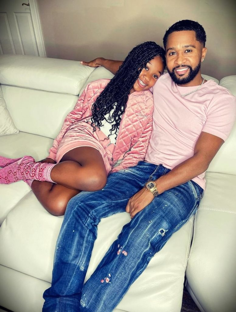 Zaytoven with his daughter