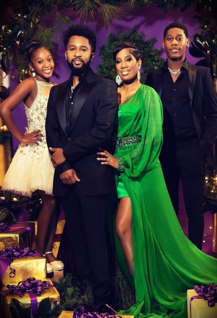 Zaytoven with his wife Stephanie Dotson and their children