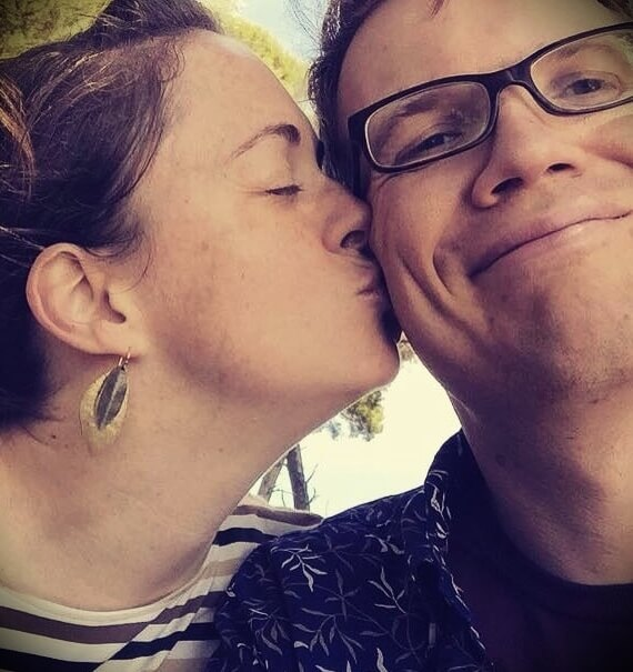 Hank Green with his wife Katherine Green