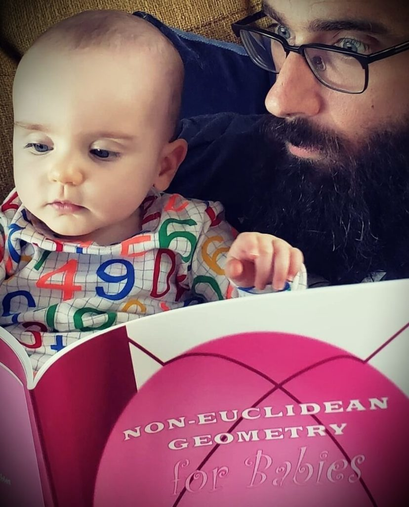 Michael Stevens with his daughter Maeve
