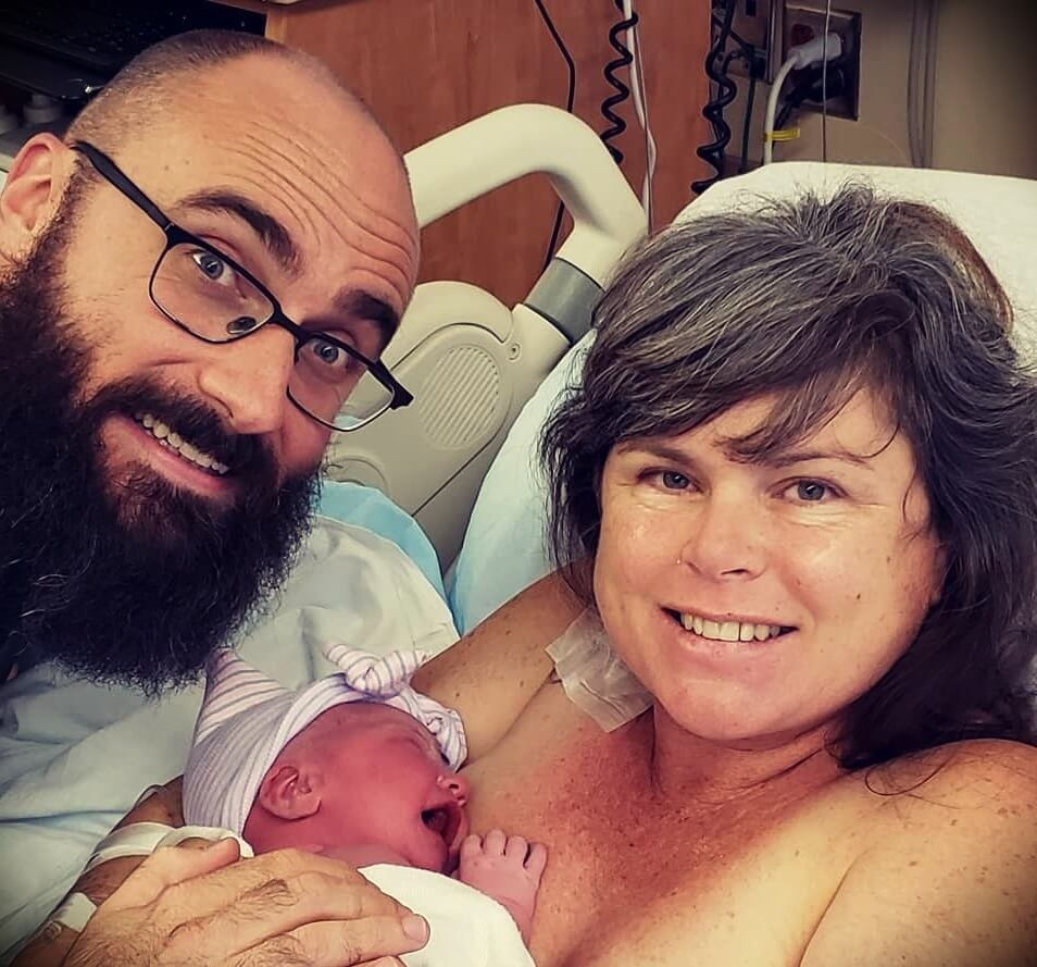 Michael Stevens with his wife Marnie Stevens and their daughter Maeve