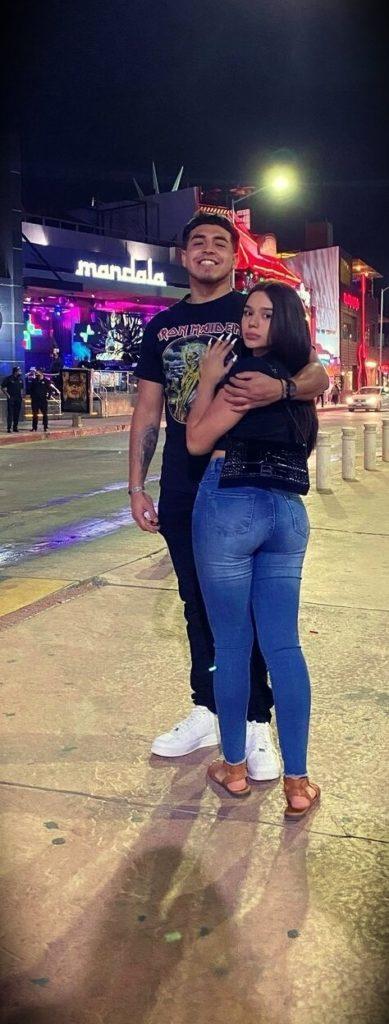 Cristina Villegas aka Tina V with her boyfriend
