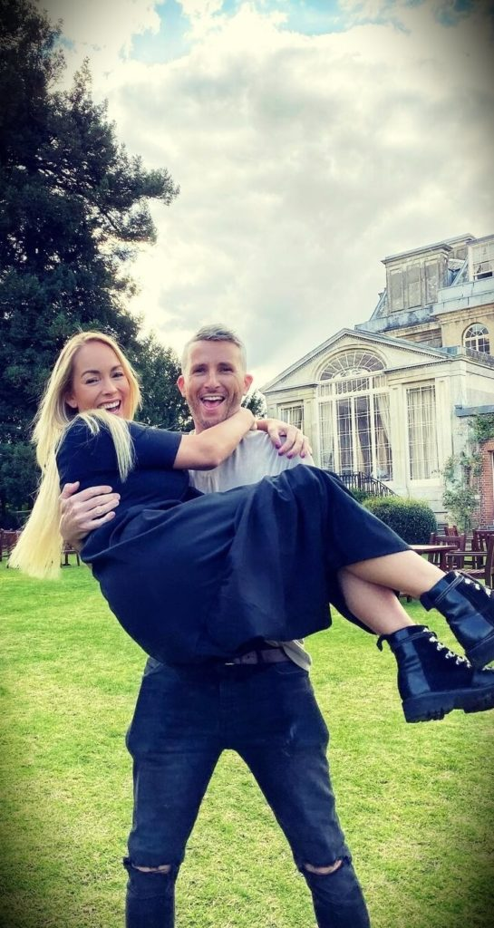 Emily Norris with her husband Matt