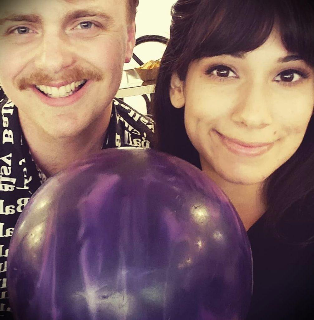 Gus Johnson with his girlfriend Abelina Sabrina