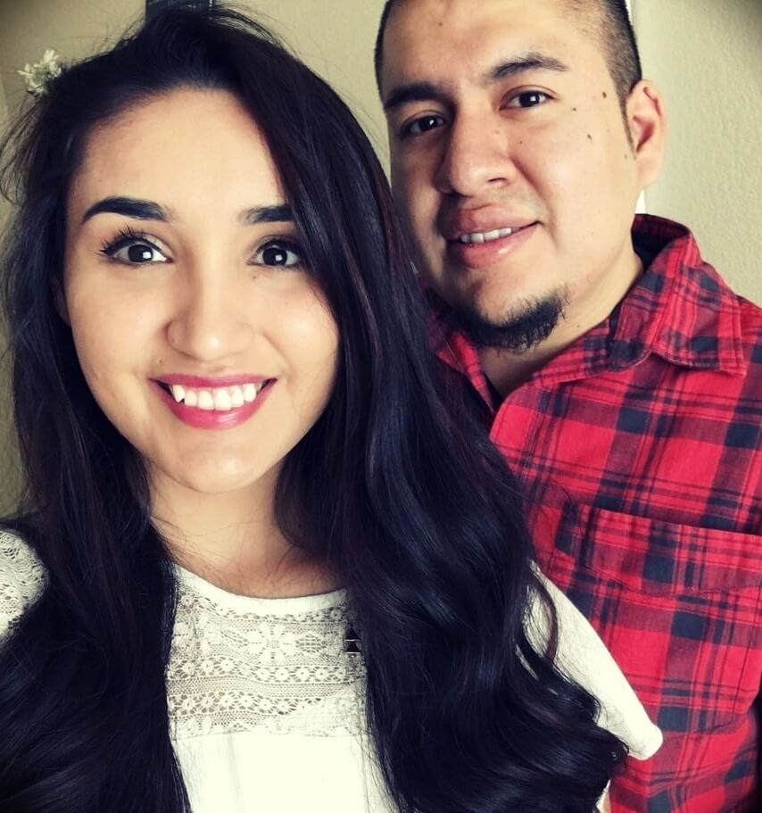 Lizabeth Rebecca with her husband Eric James