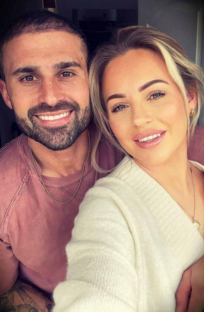 Lucy Jessica Carter with her husband Jordan Carter