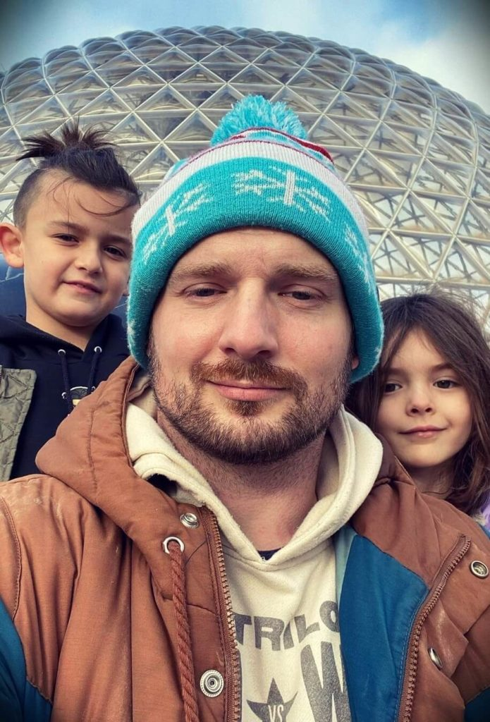 Mac Lethal with his children