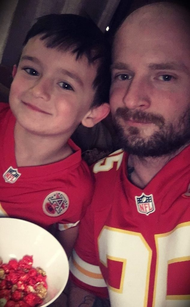 Mac Lethal with his son