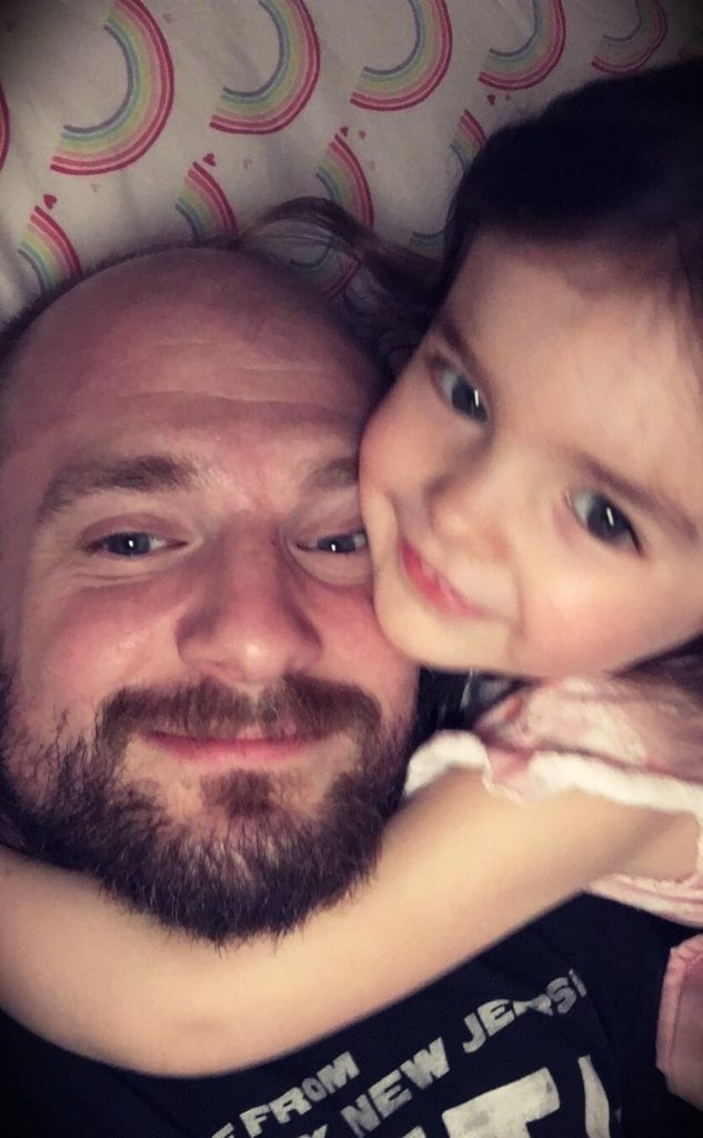 Mac Lethal with his daughter