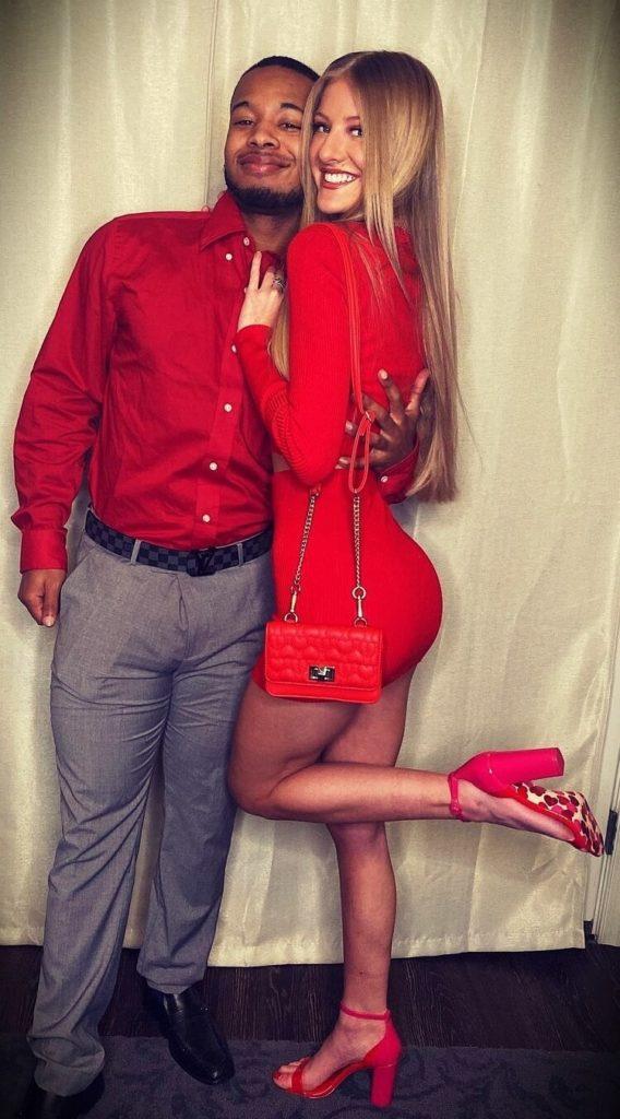 Paige Hyland with her boyfriend Jayvon Thrift