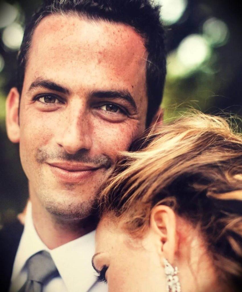 Rachel Platten with her husband Kevin Lazan at their wedding