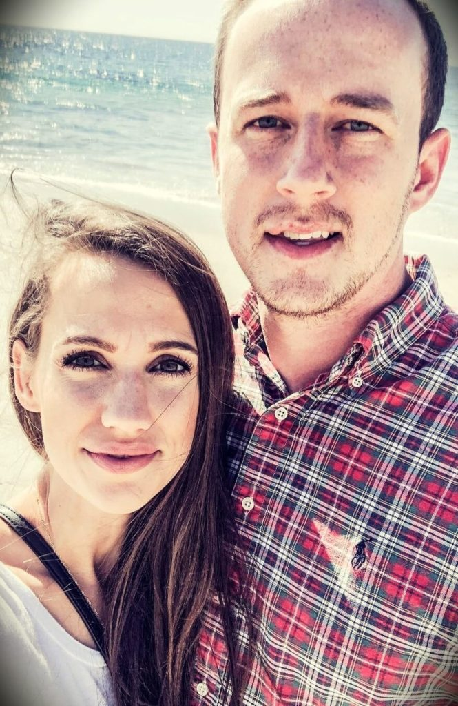 Simply Allie with her husband Andrew Gooch