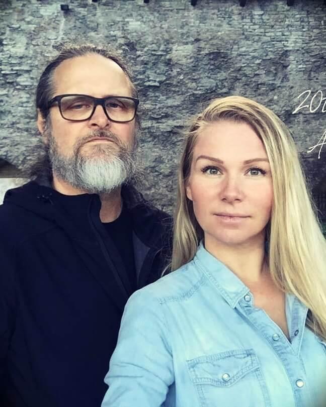 Taina Licciardo-Toivola with her husband Paul Licciardo-Toivola