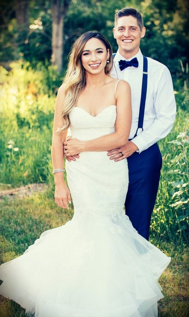 Alexandra Beuter with her husband Chad Beuter