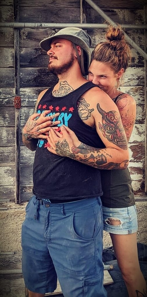 Amber Allen (The Fairly Local Family) with her husband Joseph