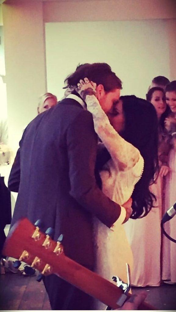 Belle Jorden with her husband Antony Flemming