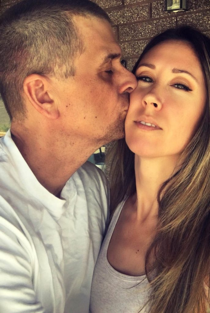 Christine Kobzeff with her husband Michael