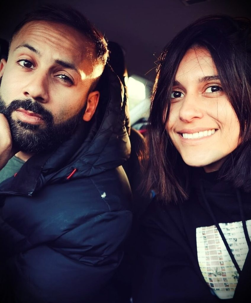 Dina Tokio with her husband Siddiq Kaan