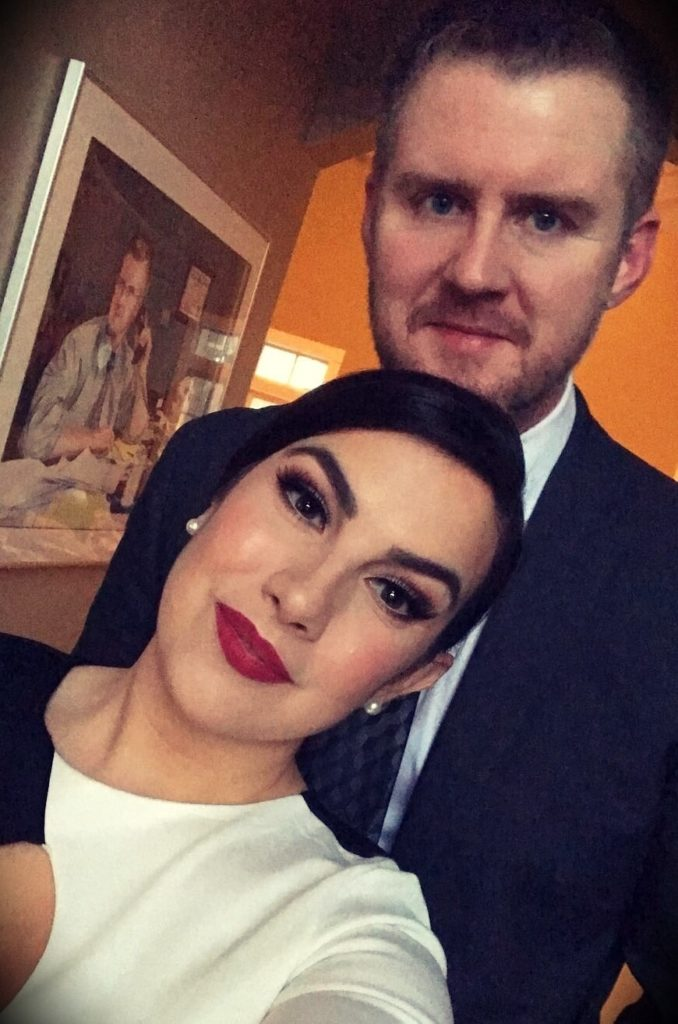 Emily Noel with her husband Tyler Dihle