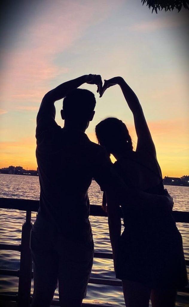 Youtuber Hana Lee with her boyfriend Jimmy Cao