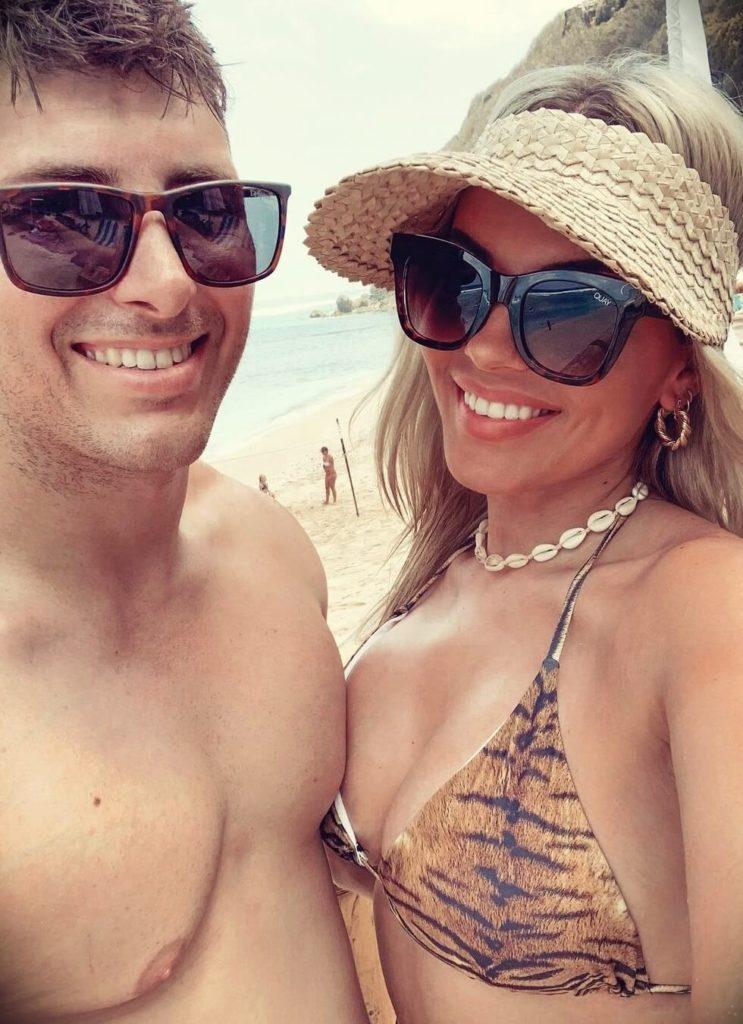 Jaz Hand with her boyfriend Peter Lizzi