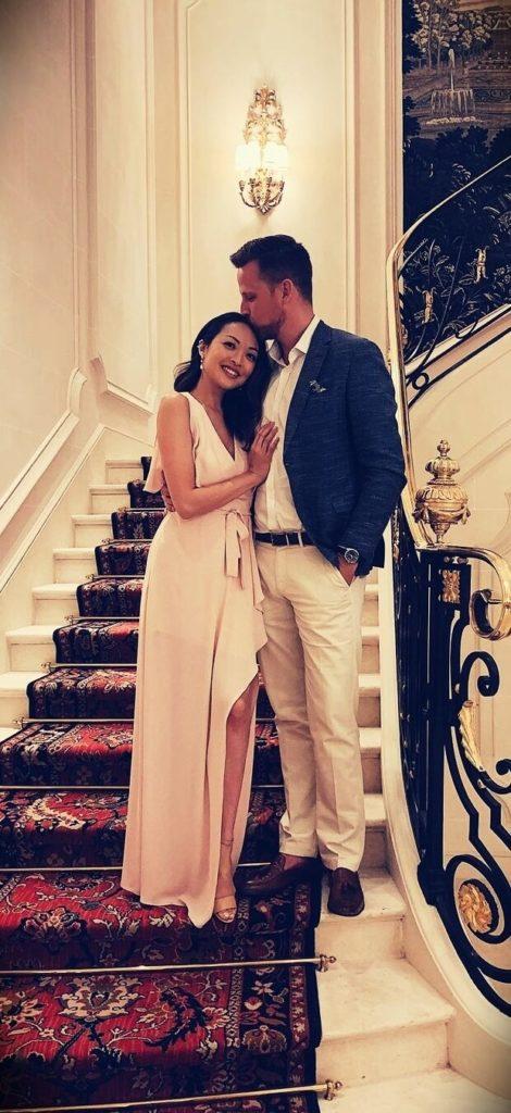 Jennifer Chiu with her husband Jeff Hall