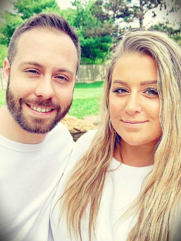 Kait Nichole with her husband