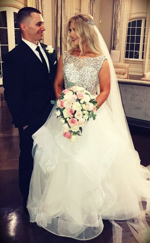 Kelly Strack with her husband Steve