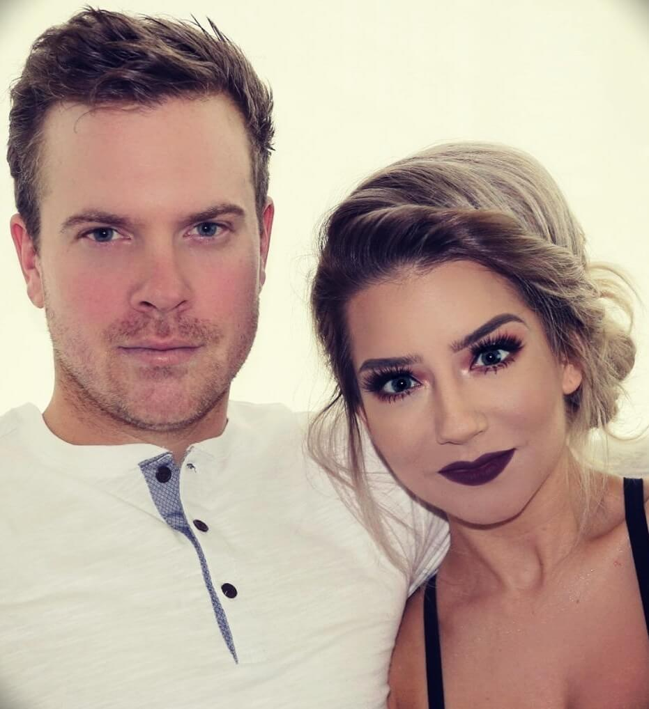 Krystal Clear Makeup with her husband Justin Sutherland