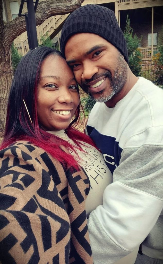 Evie (LongHairPrettyNails) with her husband Hubby