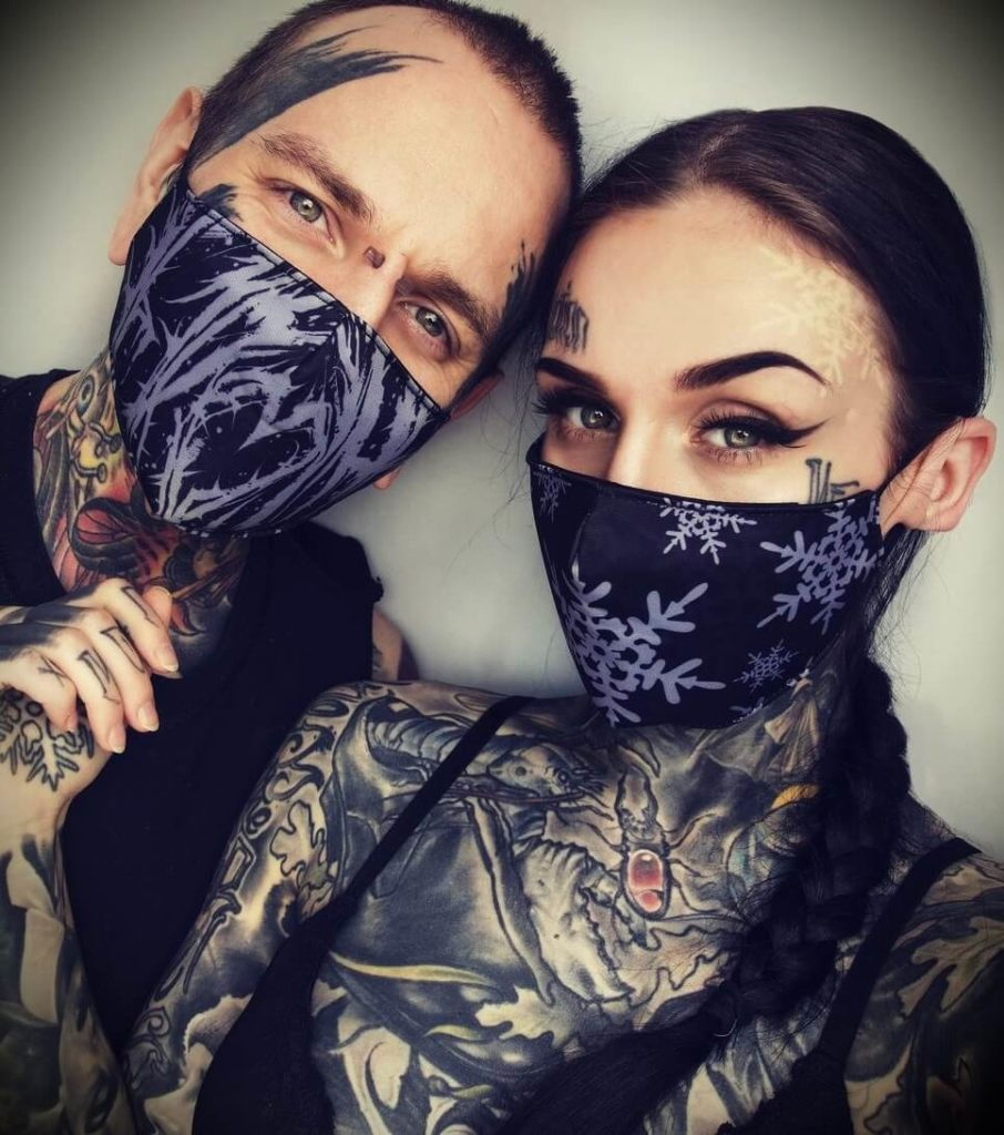 Monami Frost with her husband Anrijs Straume
